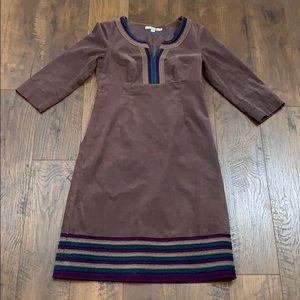 Boden brown corduroy long sleeve dress